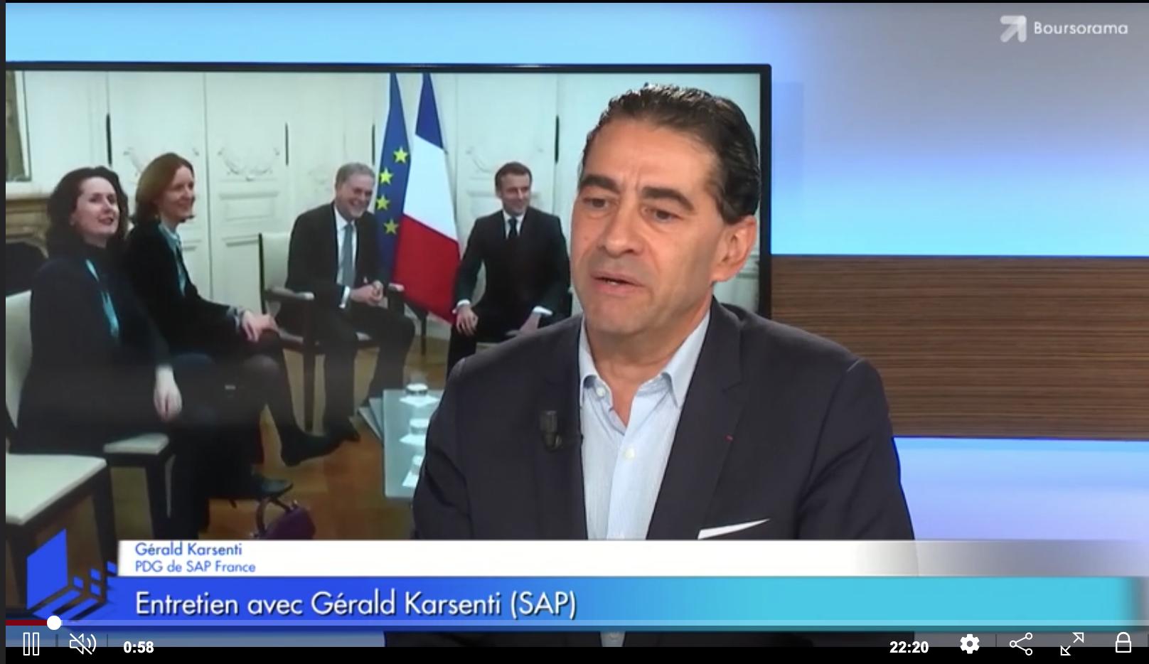 """Gérald Karsenti (SAP France) : """"SAP est la seule capable de rivaliser avec les américains !"""""""